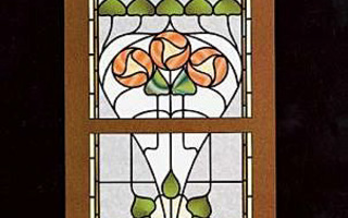 390 Traditional STAINED GLASS DESIGNS Hwyel G. Harris UUSI