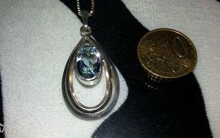 Vintage kotimainen hopea riipus ketjulla 813H