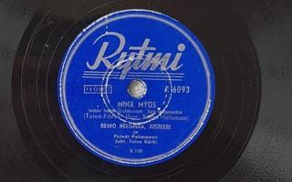 Savikiekko 1951 - Reino Helismaa & Justeeri - Rytmi - R 6093