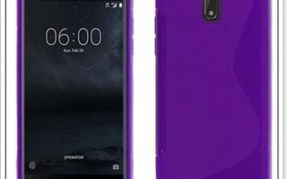 Nokia 6 - Lila geeli-suojakuori & suojakalvo #23408
