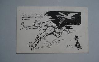 kenttäpostia: vanha sotilaspostikortti . harvinainen
